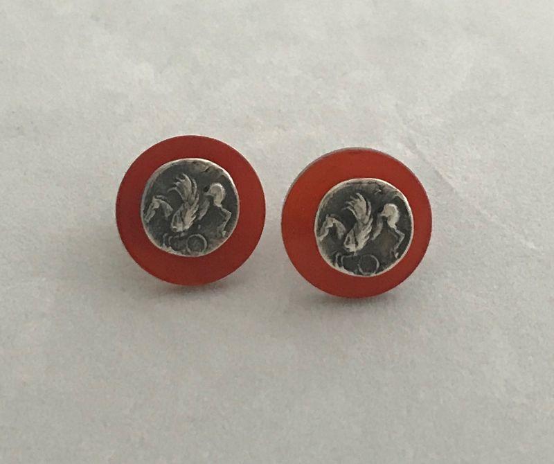 earrings-romeo-pegaso-and-carnelian-mod-4973